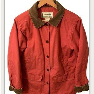 LL Bean Medium Adirondack Barn Field Coat Red EUC